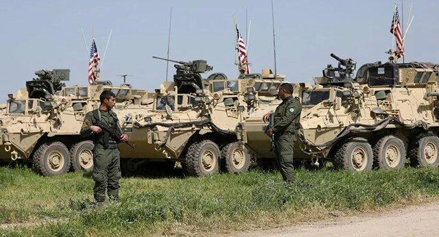 ورود خودروهای زرهی آمریکا از عراق وارد میدان نفتی سوریه