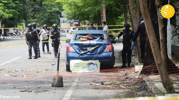(تصاویر) انفجار مقابل یک کلیسا در اندونزی
