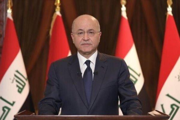 برهم صالح: حمله راکتی به فرودگاه اربیل یک جرم تروریستی است