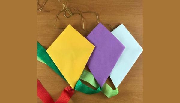 آموزش ساخت بادبادک کاغذی ساده برای بچه ها (تصویری)