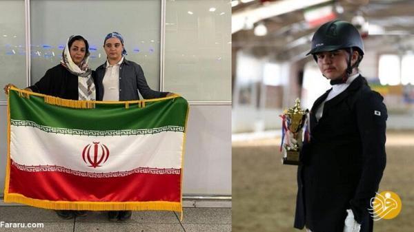 ممنوع الخروج شدن دختر 12 ساله ایرانی؛ سارا به مسابقات سوارکاری نرسید